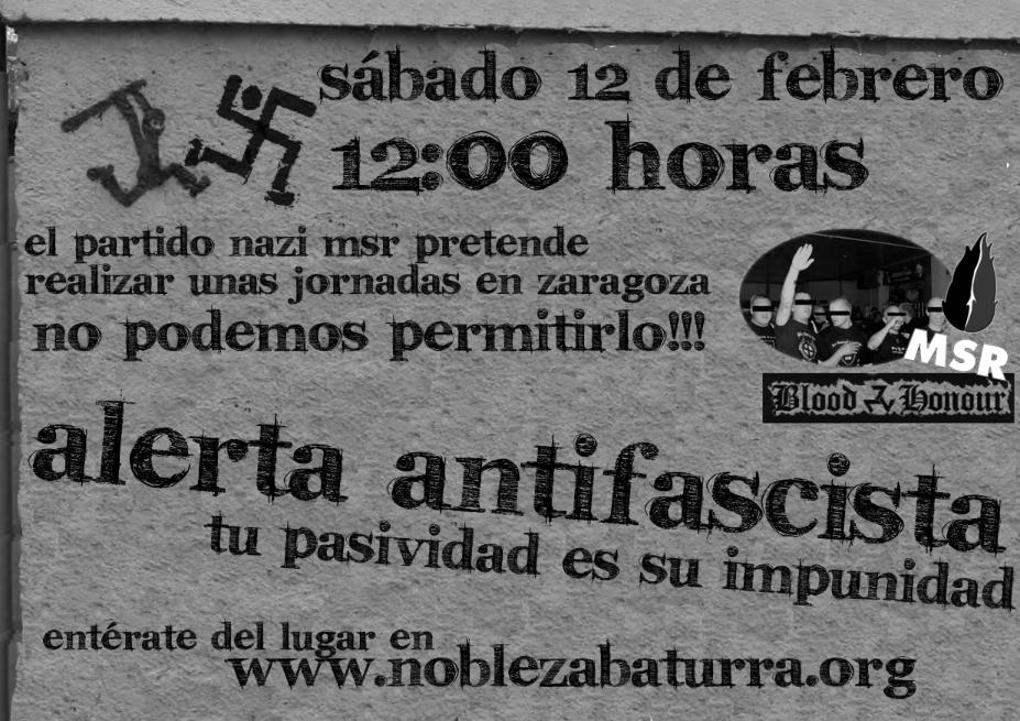 Alerta antifascista 12 febrero